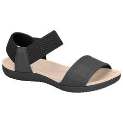 Sandália para Esporão e Fascite com Elástico - Preta - MO7125-226PT - Pé Relax Sapatos Confortáveis