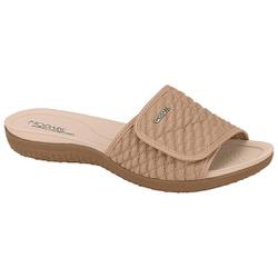Tamanco para Esporão e Fascite com Velcro Total - Bege - MO7125-227BG - Pé Relax Sapatos Confortáveis