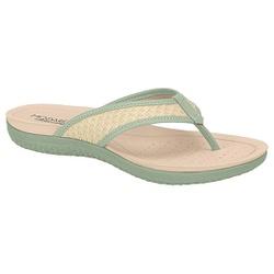 Chinelo para Esporão e Fascite - Verde Água / Trama Palha - MO7125-223VA - Pé Relax Sapatos Confortáveis