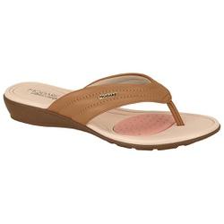 Chinelo para Esporão e Fascite - Camel - MO7127-227CA - Pé Relax Sapatos Confortáveis