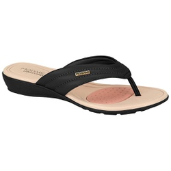 Chinelo para Esporão e Fascite - Preto - MO7127-227PT - Pé Relax Sapatos Confortáveis