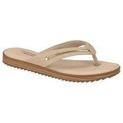 Chinelo Confortável - Bege - MO7141-101BG - Pé Relax Sapatos Confortáveis