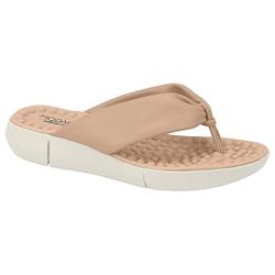 Chinelo para Esporão e Fascite com Massageador - Bege - MO7142-114BG - Pé Relax Sapatos Confortáveis