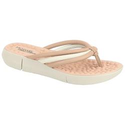 Chinelo Feminino para Esporão e Fascite com Massageador - Bege - MO7142-116BG - Pé Relax Sapatos Confortáveis