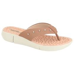 Chinelo Feminino para Esporão c/ Massageador - Bege - MO7142-117BG - Pé Relax Sapatos Confortáveis