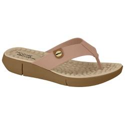 Chinelo para Esporão e Fascite com Massageador - Bege - MO7142-106BG - Pé Relax Sapatos Confortáveis