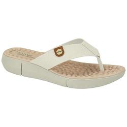 Chinelo para Esporão e Fascite com Massageador - Branco - MO7142-106BRMR - Pé Relax Sapatos Confortáveis