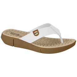 Chinelo para Esporão e Fascite com Massageador - Branco - MO7142-106BR - Pé Relax Sapatos Confortáveis