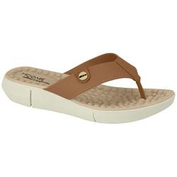 Chinelo para Esporão e Fascite com Massageador - Camel - MO7142-106MA - Pé Relax Sapatos Confortáveis