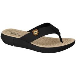 Chinelo para Esporão e Fascite com Massageador - Preto - MO7142-106PT - Pé Relax Sapatos Confortáveis