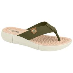 Chinelo para Esporão e Fascite com Massageador - Oliva - MO7142-106OL - Pé Relax Sapatos Confortáveis