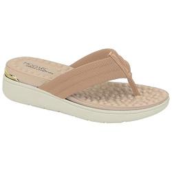 Chinelo Feminino para Esporão e Fascite - Bege - MO7151-106BG - Pé Relax Sapatos Confortáveis