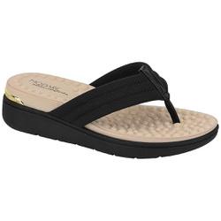 Chinelo Feminino para Esporão e Fascite - Preto - MO7151-106PT - Pé Relax Sapatos Confortáveis