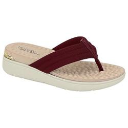 Chinelo Feminino para Esporão e Fascite - Vinho - MO7151-106VI - Pé Relax Sapatos Confortáveis