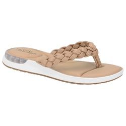 Chinelo c/ Amortecedor Gel para Esporão e Fascite - Bege - MO7159-101BG - Pé Relax Sapatos Confortáveis