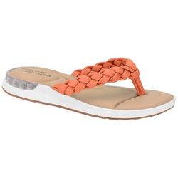 Chinelo c/ Amortecedor Gel para Esporão e Fascite - Coral - MO7159-101CO - Pé Relax Sapatos Confortáveis