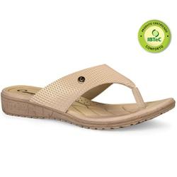 Chinelo Anatômico Feminino - Caimi Creme - CAL6812CR - Pé Relax Sapatos Confortáveis