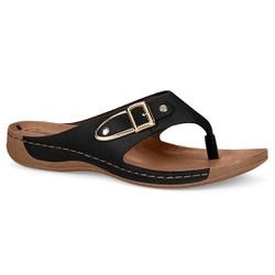 Chinelo Esporão e Fascite - Preto - CAL6835PT - Pé Relax Sapatos Confortáveis