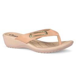 Chinelo Esporão e Fascite - Manila Bege - CAL7082BG - Pé Relax Sapatos Confortáveis