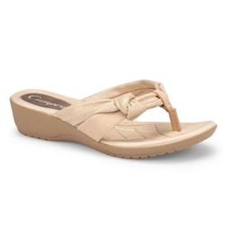 Chinelo Esporão e Fascite - Light Bege - CAL7413LB - Pé Relax Sapatos Confortáveis