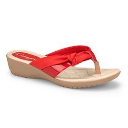 Chinelo Esporão e Fascite - Vermelho - CAL7413RD - Pé Relax Sapatos Confortáveis