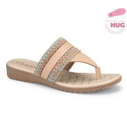 Chinelo Esporão e Fascite - Bege - CAL7612ND - Pé Relax Sapatos Confortáveis