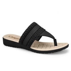 Chinelo Esporão e Fascite - Preto - CAL7612-0002PT - Pé Relax Sapatos Confortáveis