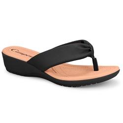 Chinelo Esporão e Fascite - Preto - CAL7751-0011PT - Pé Relax Sapatos Confortáveis