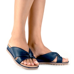 Chinelo Esporão e Fascite - Navy - CAL8221-0004NV - Pé Relax Sapatos Confortáveis