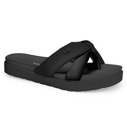 Chinelo Feminino para Esporão e Fascite - Koza Preto - DAZ7791-0005PT - Pé Relax Sapatos Confortáveis