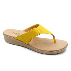 Chinelo Feminino para Esporão e Fascite - Amarillo - PR10007AL - Pé Relax Sapatos Confortáveis