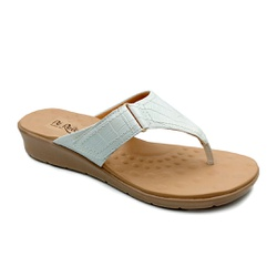 Chinelo Feminino para Esporão e Fascite - Branco - PR10007BR - Pé Relax Sapatos Confortáveis