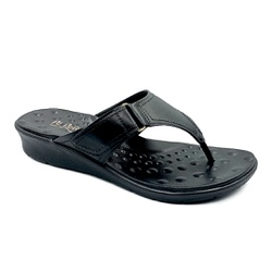 Chinelo Feminino para Esporão e Fascite - Preto - PR10007PR - Pé Relax Sapatos Confortáveis