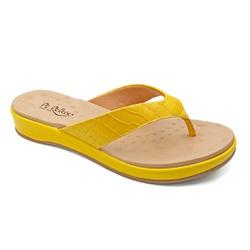 Chinelo Feminino para Fascite e Esporão - Amarillo - PR128157FAM - Pé Relax Sapatos Confortáveis