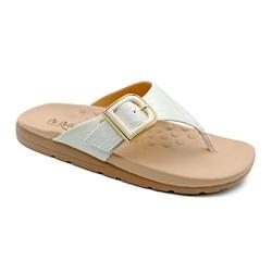 Chinelo Feminino para Fascite e Esporão - Branco - PR622033BR - Pé Relax Sapatos Confortáveis
