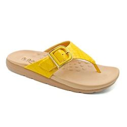 Chinelo Feminino para Fascite e Esporão - Amarilo - PR622033AM - Pé Relax Sapatos Confortáveis