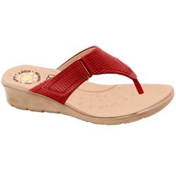 Chinelo Confort para Esporão e Fascite - Gamboa / Scarlet - MA10007NV - Pé Relax Sapatos Confortáveis