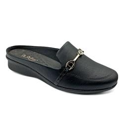Mule Feminino Social para Esporão e Fascite - Preto - PR302045PR - Pé Relax Sapatos Confortáveis
