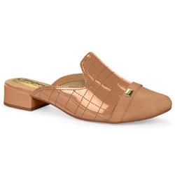 Mule Feminino - Bege - CAL6731BG - Pé Relax Sapatos Confortáveis