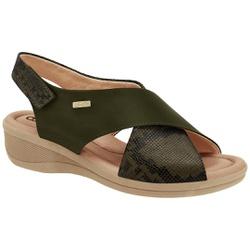 Sandália para Fascite Plantar - Verde Folha - CF2088302VD - Pé Relax Sapatos Confortáveis