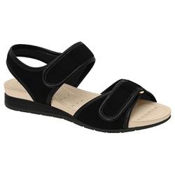 Sandália Anabela Confort - Preta - MO7113-207PT - Pé Relax Sapatos Confortáveis