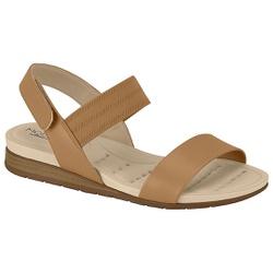 Sandália Confortável para Esporão - Camel - MO7113-212CA - Pé Relax Sapatos Confortáveis