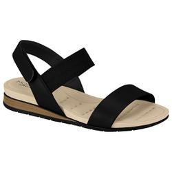 Sandália Confortável para Esporão - Preto - MO7113-212PT - Pé Relax Sapatos Confortáveis