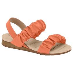 Sandália Confortável para Esporão - Coral - MO7113-239CO - Pé Relax Sapatos Confortáveis