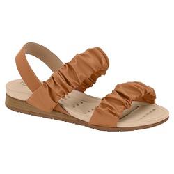 Sandália Confortável para Esporão - Camel - MO7113-239MA - Pé Relax Sapatos Confortáveis
