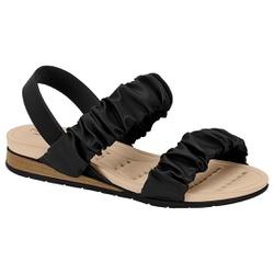 Sandália Confortável para Esporão - Preto - MO7113-239PT - Pé Relax Sapatos Confortáveis