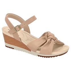 Anabela Confortável - Bege - MO7123-131BG - Pé Relax Sapatos Confortáveis