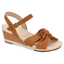 Anabela Confortável - Camel - MO7123-131CA - Pé Relax Sapatos Confortáveis