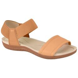 Sandália para Esporão e Fascite com Elástico - Areia - MO7125-226AR - Pé Relax Sapatos Confortáveis