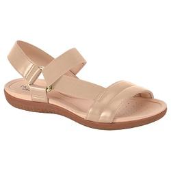 Sandália para Esporão e Fascite com Elástico - Bege - MO7125-229BG - Pé Relax Sapatos Confortáveis